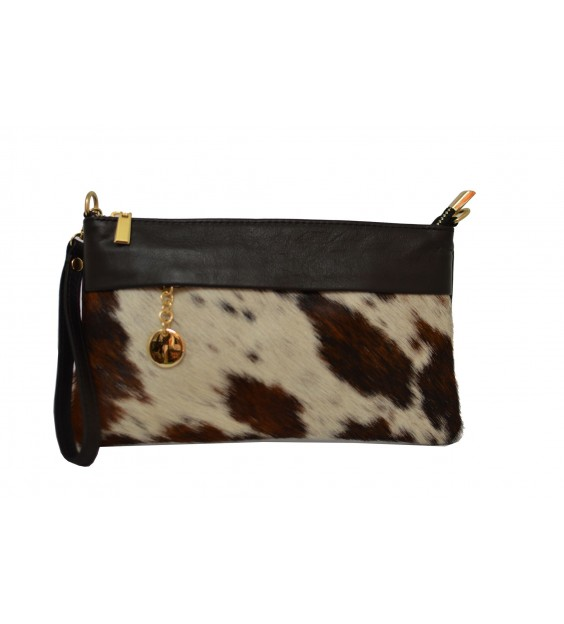 Shoulderbag - Hairy - Cow print