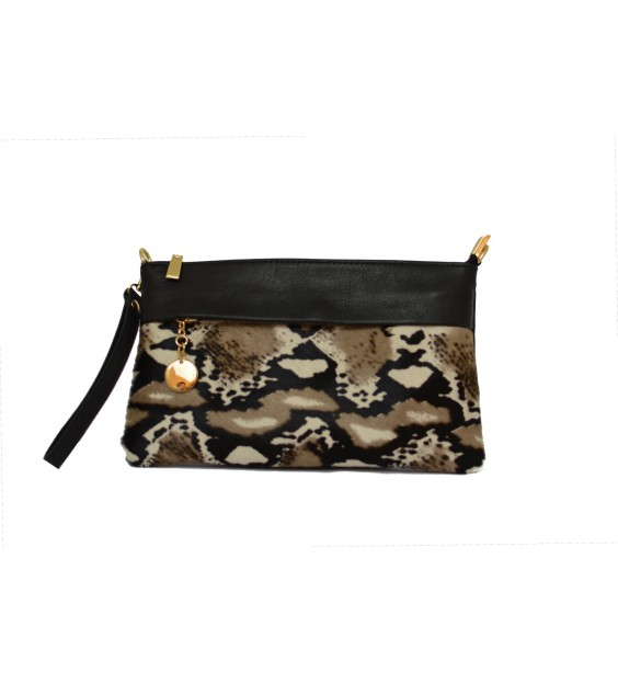 Shoulderbag - Hairy - Snake print