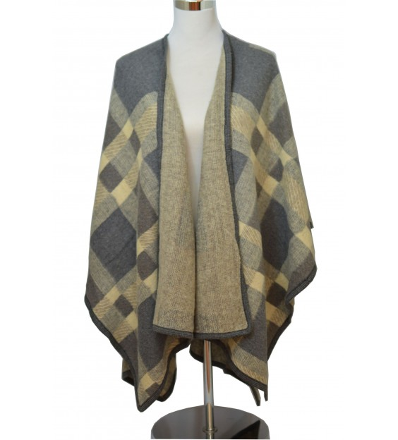 Poncho - Ruit patroon - Multi