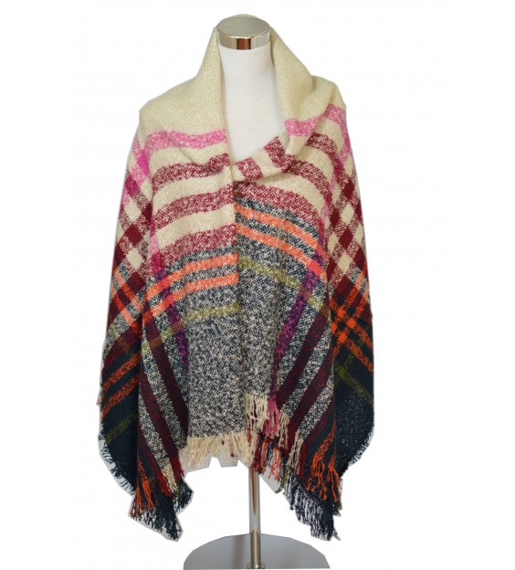 Poncho - Knit - Multi color