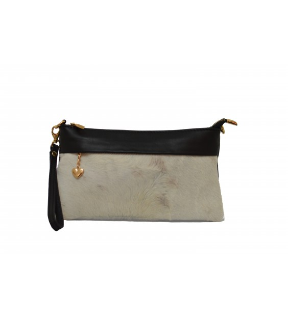 Shoulderbag - Hairy - White print