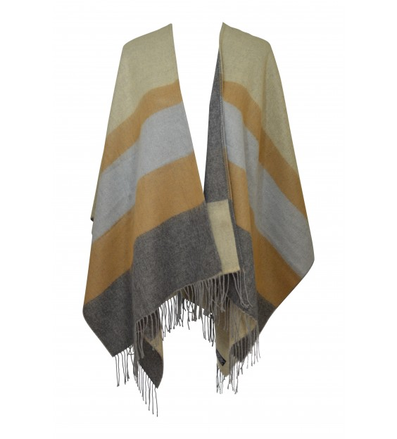 Poncho - Horizon stripes - Multi