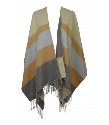 Poncho - Horizon stripes - Pastel