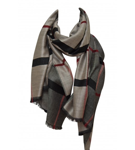 Sjaal - chequered - Grey