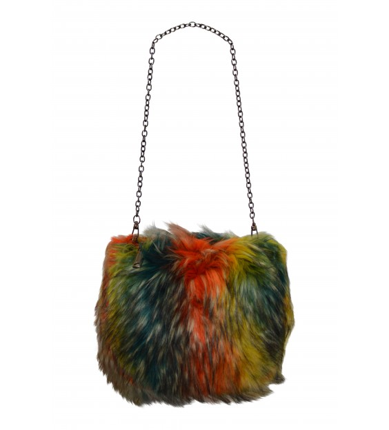 Shoulderbag - Fluffy - Multicolor