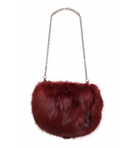 Shoulderbag - Fluffy - Bordeaux
