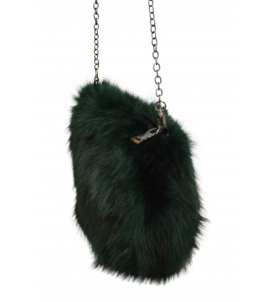 Shoulderbag - Fluffy - Green