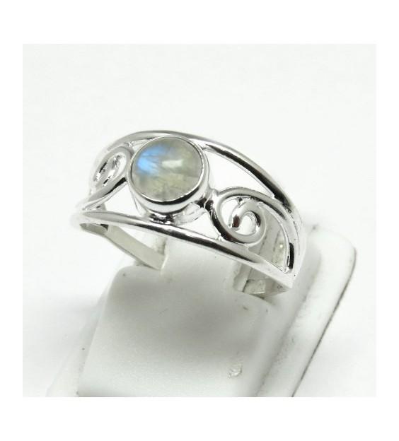 Rainbow Moonstone Ring